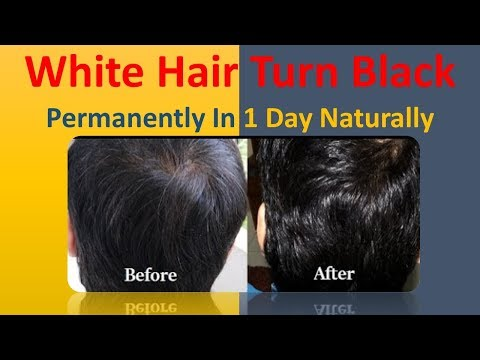 White Hair Turn Black Permanently In 1 Days Naturally