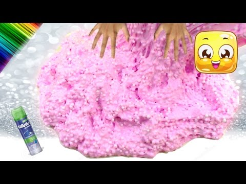 How To Make Floam Slime! Giant Fluffy SNOW Slime no borax, liquid starch, baking soda, eye drops