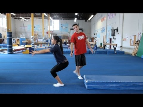 How to Do a Standing Back Tuck | Gymnastics Lessons