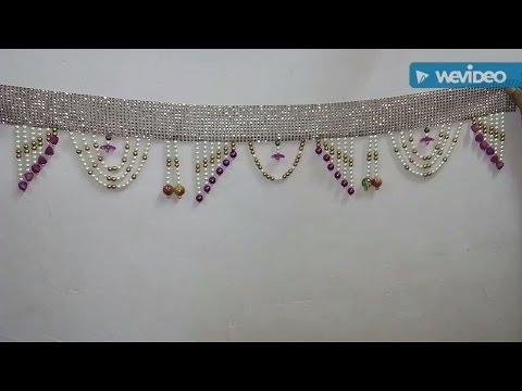 Toran/Toran making at home/Toran Designs/How to make toran at home/Simple and Easy Toran/Beads Toran