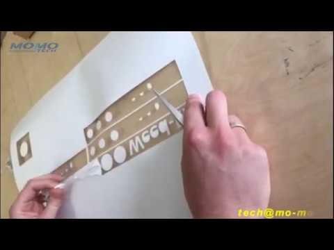 MOMO Vinyl Cutter Cutting Germany Weed-Ex Flock PU Vinyl