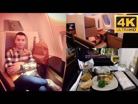 New York to Melbourne  (On Etihad business class) in 4K