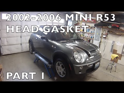How to Replace MINI Cooper Cylinder Head/Gasket 2002-2006 R53 Part 1