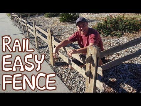 Ranch Style Split Rail Board Fence For Halloween Pumpkin Patch