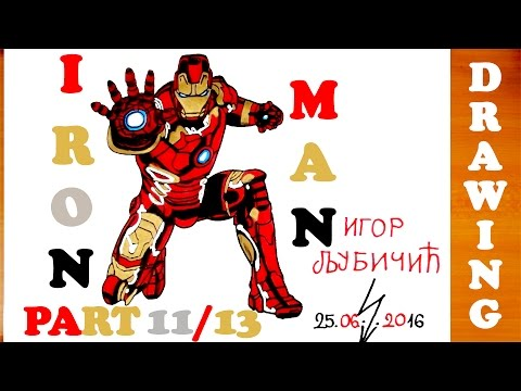 How To Draw Iron Man Full Body Step By Step Easy For Kids From Avenge