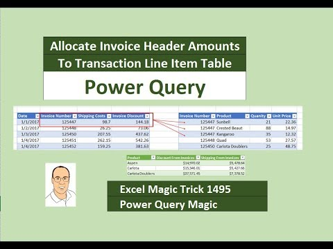 EMT 1495: Power Query: Allocate Invoice Header Amounts To Transaction Line Item Table