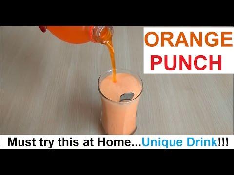Orange Punch/Unique Drink/Unique Taste - Must Try