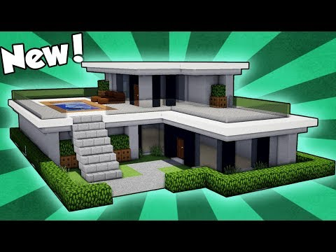 Minecraft: How to Build a Small & Easy Modern House Tutorial 2018