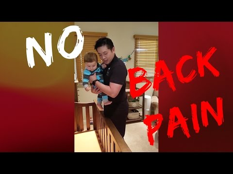 Back Pain: How to lift my baby out of a crib safely