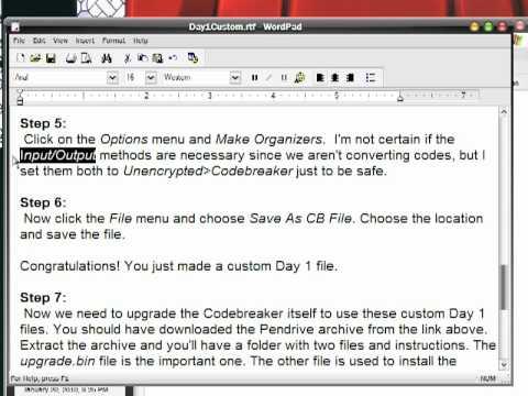 Custom Day 1 Codebreaker files with Omniconvert