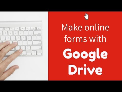 Making online forms with Google Drive