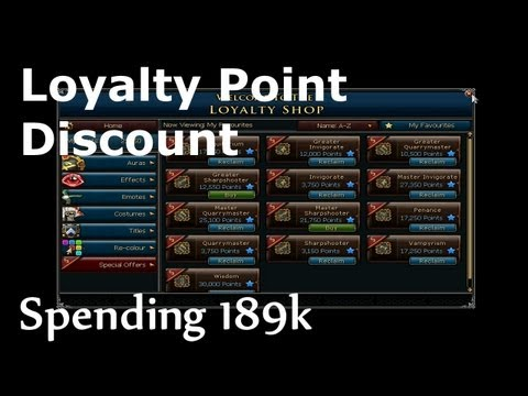 LOYALTY POINTS DISCOUNT - Spending 189k Points