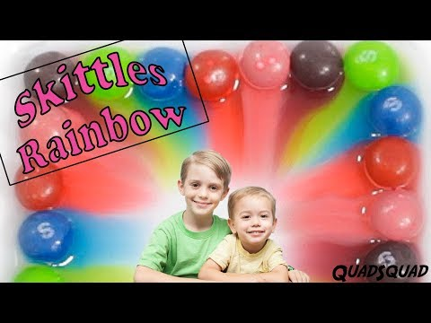 Make a Skittles Rainbow! - Fun Science Experiment for Kids