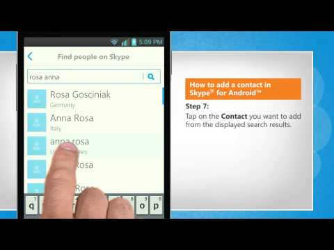 How to add a contact in Skype® for Android™ on LG L9