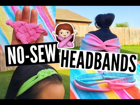 DIY No-Sew Headbands Made Out of Old T-Shirts! //EliseLife