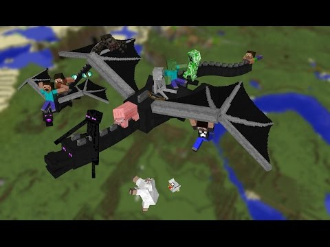 MINECRAFT WII U EDITION PLAYING WITH FRIENDS , ENDER DRAGON , AND PIXEL ART