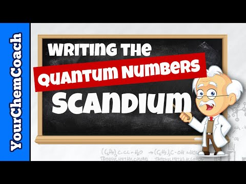 Writing Quantum Numbers for Scandium
