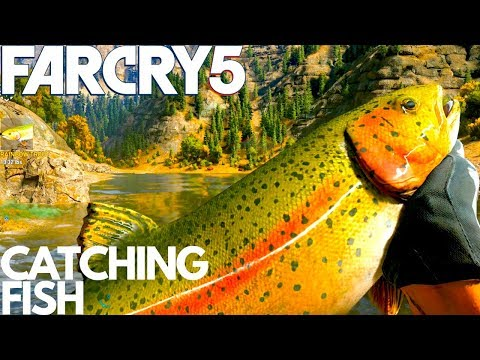 FAR CRY 5 HOW TO CATCH FISH FISHING LAKE