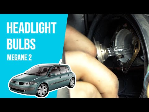 [ TUTORIAL RENAULT MEGANE 2 ]  How to change the front lightbulbs