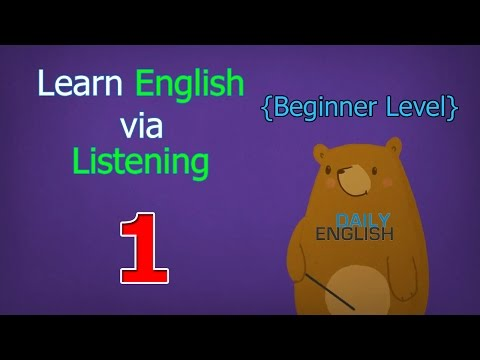 Learn English via Listening Beginner Level | Lesson 1 | First Snow Fall
