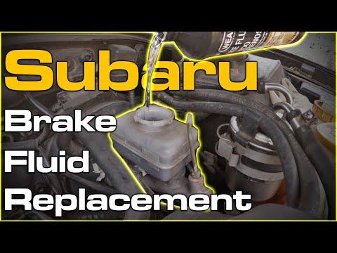 Subaru Brake Fluid Flush Bleed