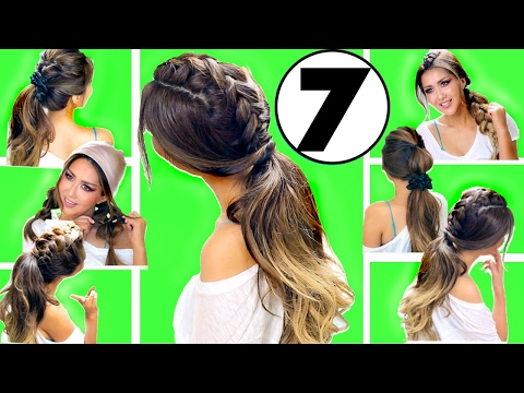 ★ TOP 7 EASY EVERYDAY HAIRSTYLES of 2017 👍🏽 | Hairstyles for Medium Long Hair