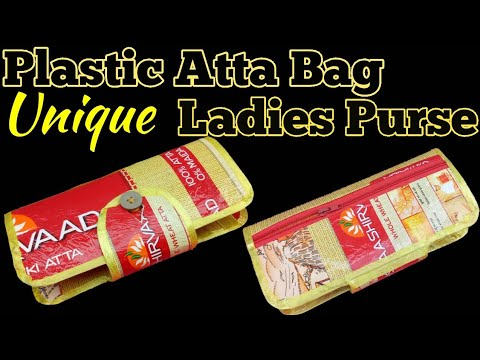 How to make a Plastic ladies hand bag Or Purse Using Plastic Bag | Best out Of waste Craft