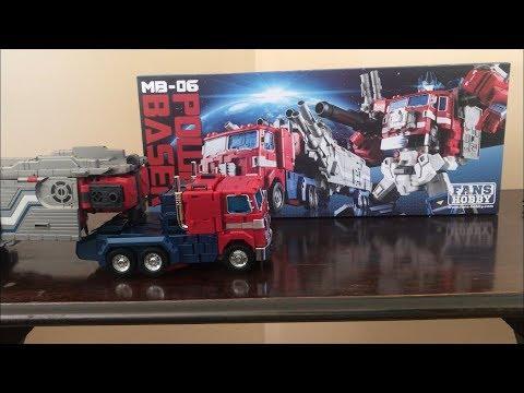Fans Hobby Master Builder MB-06 POWER BASER  Optimus Prime UNBOXING