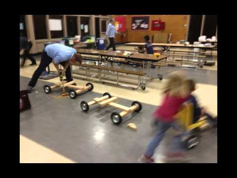 Cub Scouts build push go-karts & practice runs for Rio Vista Soap Box Derby