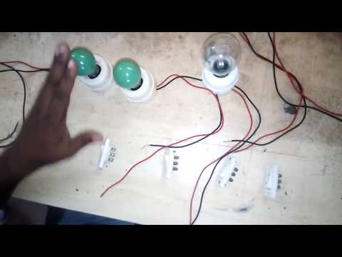 make a different circuit by DPDT switch| step by step lamp control by two way switch