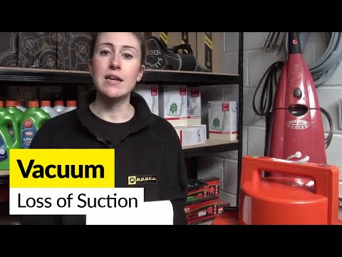 How to fix loss of suction in a vacuum cleaner