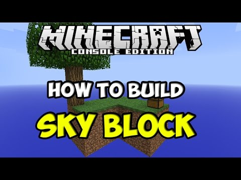 How to Build SkyBlock in Minecraft PS4 / Xbox One