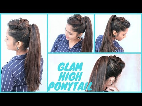 GLAM High Ponytail Hairstyle | Party Ponytail Hairstyle