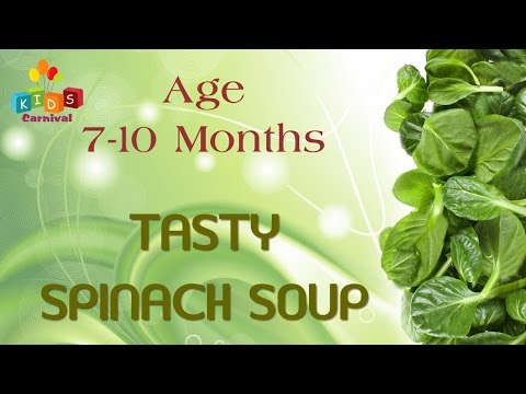 Tasty Spinach Soup For 7-10 Months Old Babies | Food Recipe For Kids