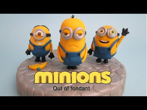 How to make Minions  out of Fondant Cake Topper