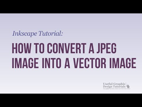 How to Convert a jpeg Image into a Vector Image Using Inkscape - Inkscape Tutorial