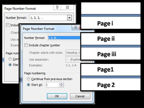 How To add different page number for different sections with PAGE BREAK 2017