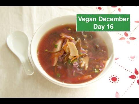 Chinese Hot & Sour Soup - Vegan December Day 16 | Natalie Aviv