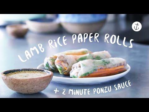 Lamb Rice Paper Roll Recipe | Bondi Harvest