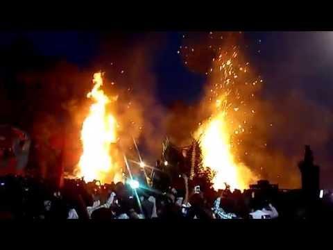 Dussehra 2014 celebrations effigy of Ravan and Mahishasura burnt