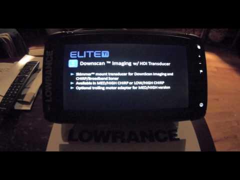 Lowrance Elite 9 TI in simulator mode