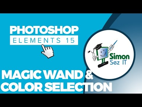 How to Use The Color Selection Tool & Magic Wand in Adobe Photoshop Elements 15