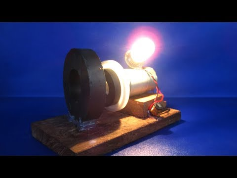 Free energy light bulbs experiments with magnets motor generator - Science DIY projects at home