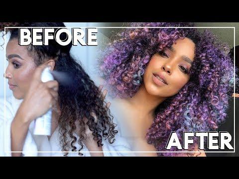 DIY UNICORN HAIR COLOR using Hush Prism Airbrush Spray from Sephora!