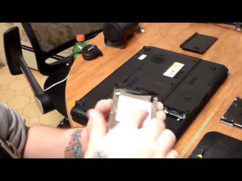 How To Install Hard Drive In A Toshiba L305D Laptop