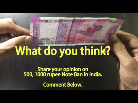 How to Identify Original / Fake 2000 Rupee New Note in India
