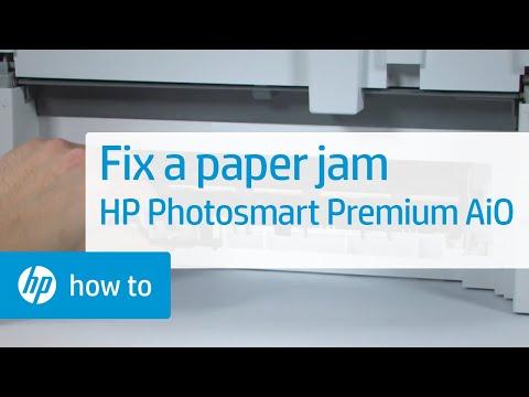Fixing a Paper Jam - HP Photosmart Premium All-in-One Printer (C309a)
