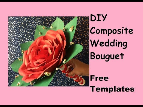 Elegant and Inexpensive Wedding Flower bouquet : Rose Composite wedding bouquet : Free template