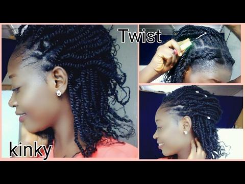 Protective Style | Kinky Twist Crochet Braids | Easy Method