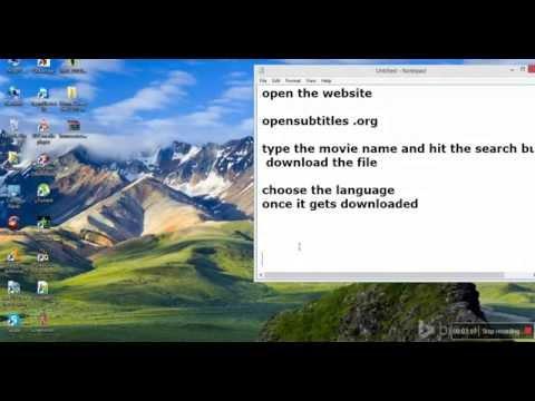 Add subtitles in video usnig VLC media player